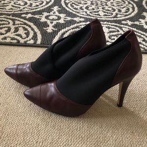 BCBGeneration maroon and black heels . Size 8.5